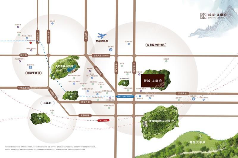 新城龙樾府位置图