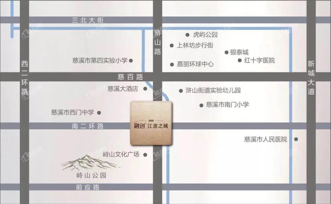 江滨之城位置图