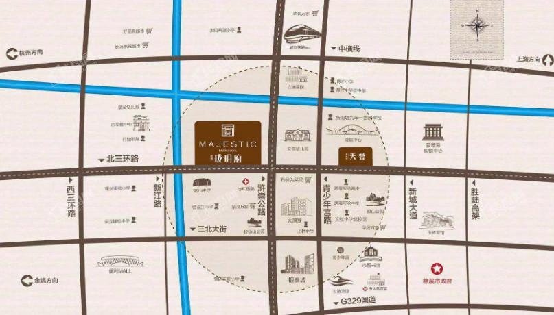 杭州湾碧桂园·珑玥府位置图
