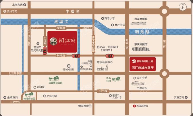 杭州湾阅江府位置图