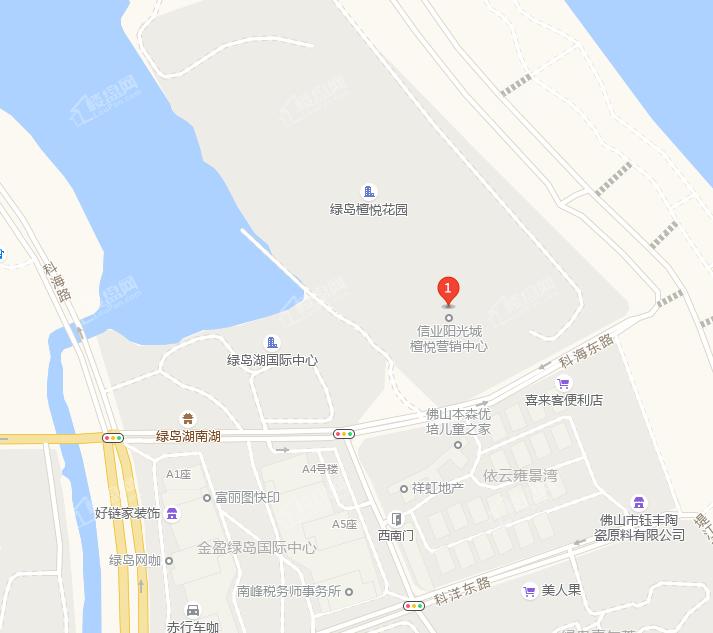 信业阳光城·檀悦位置图