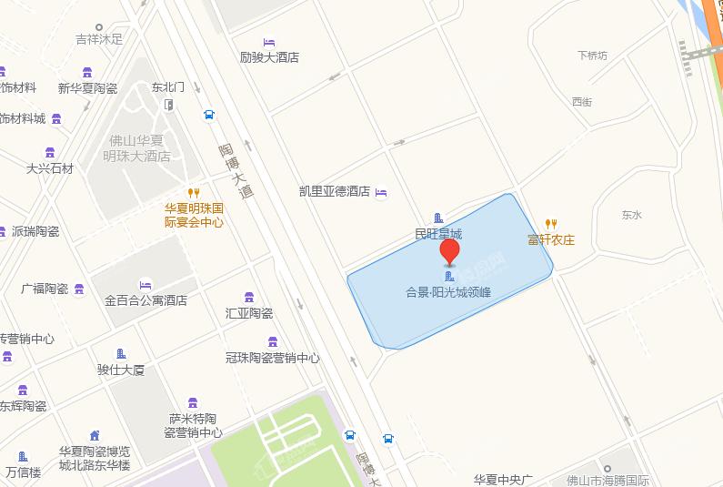 合景阳光城·领峰位置图