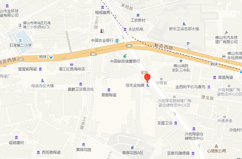 佛山佳兆业悦峰位置图