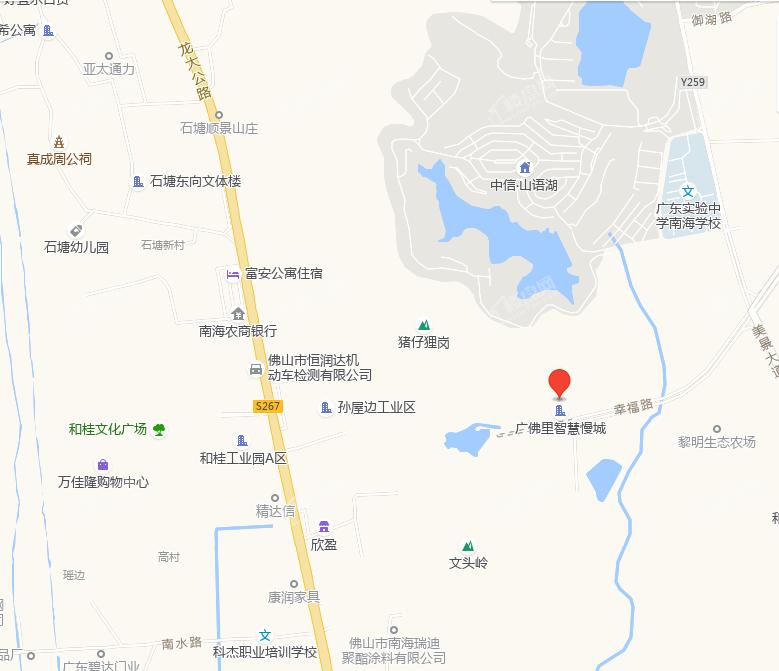 广佛里智慧慢城位置图