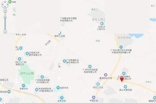 广州增城佳兆业悦峰交通图