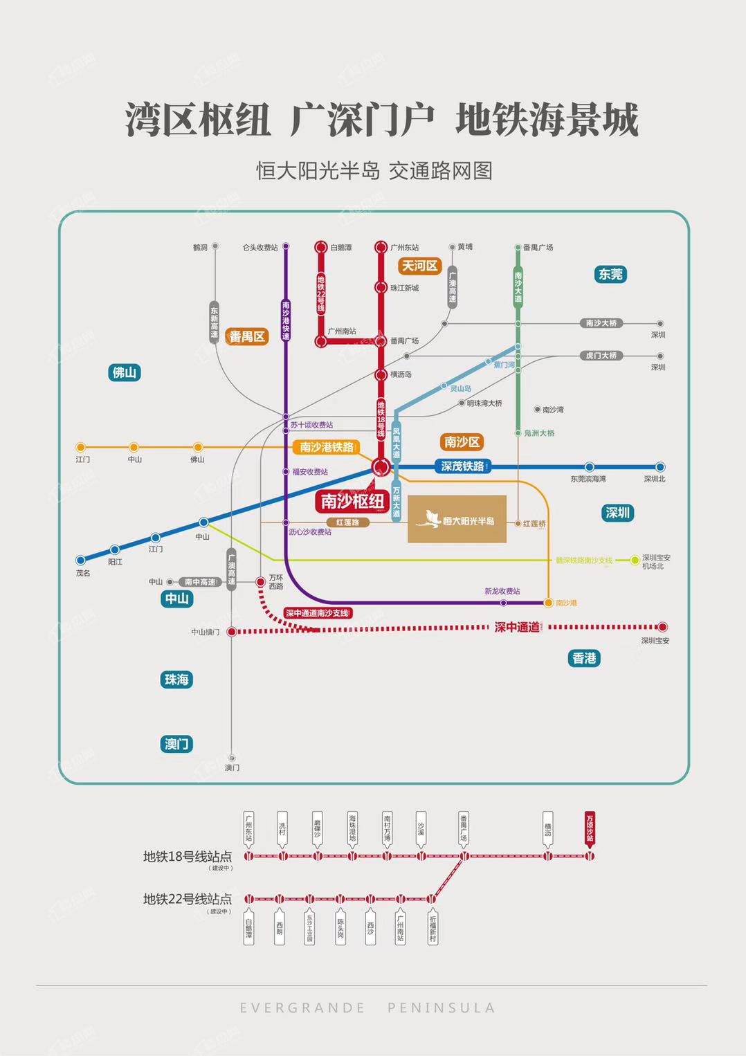 广州恒大阳光半岛位置图