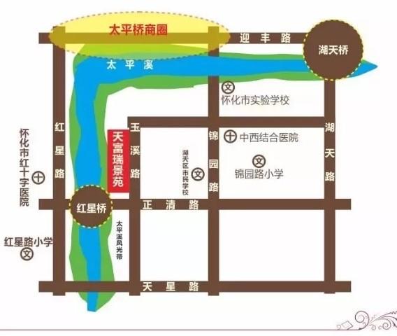 天富瑞景苑位置图