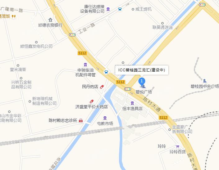 ICC碧桂园三龙汇位置图