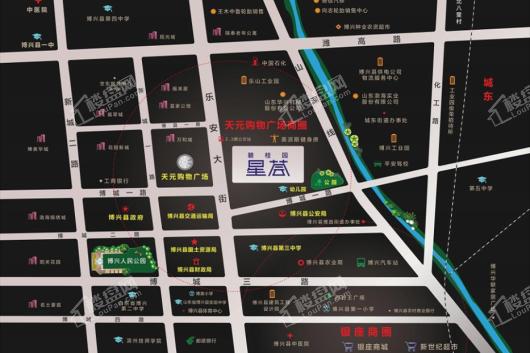 博兴碧桂园星荟交通图
