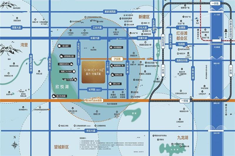 新力大境天城位置图