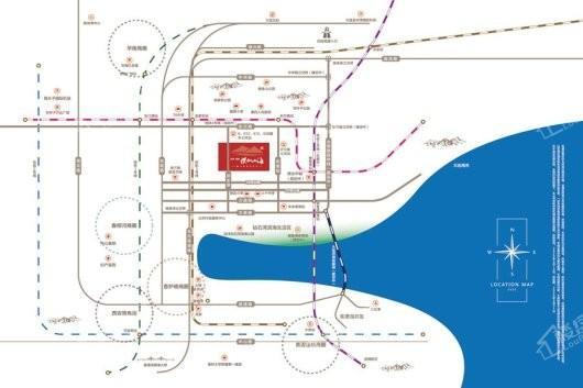 远洋保利悦和山海交通图