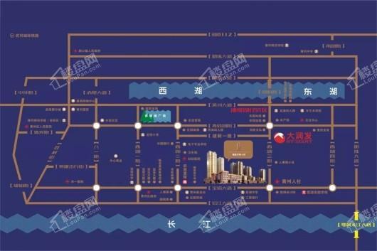 鼎盛华城二期天越交通图