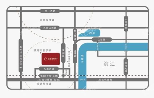 绿城桂语映月交通图