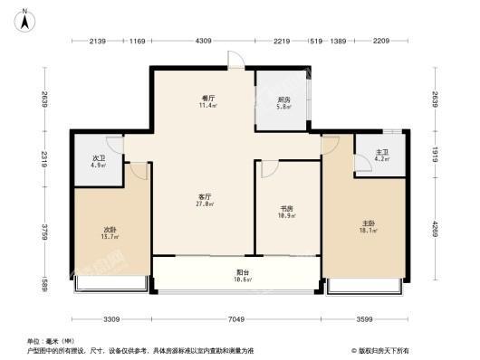 滨江嘉品美寓户型图