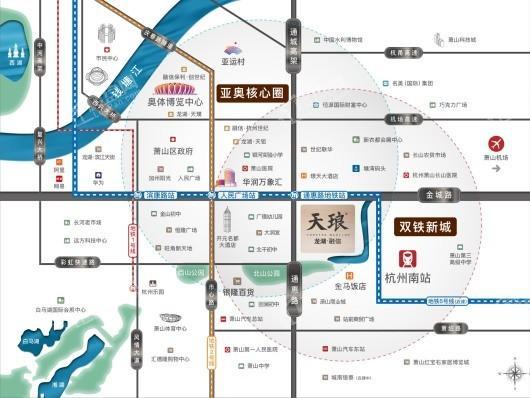龙湖融信天琅府交通图
