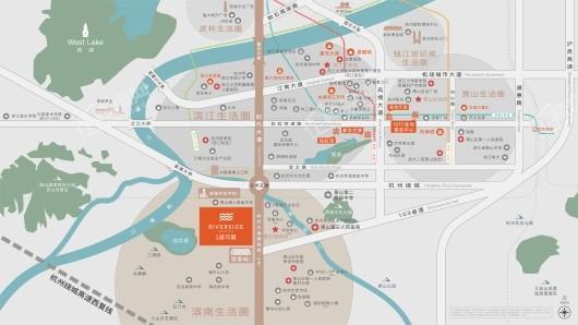 金地滨与城交通图