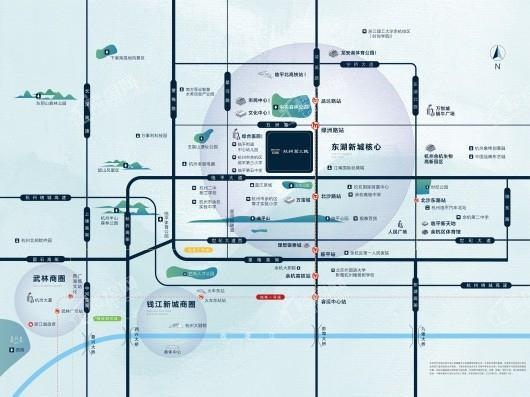 曲江新鸥鹏杭州第三城(久境府)交通图