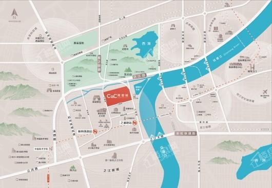 中融蓝城Co.C理想城交通图