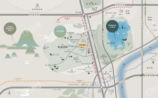 龙坞茶镇住宅项目交通图