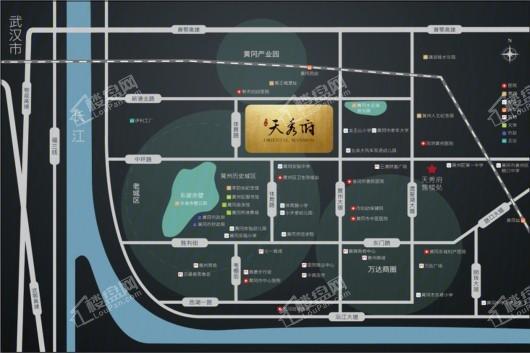 黄州一品(天秀府)交通图
