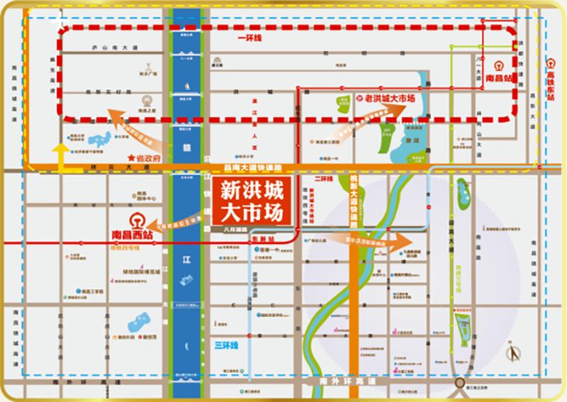 新洪城大市场位置图