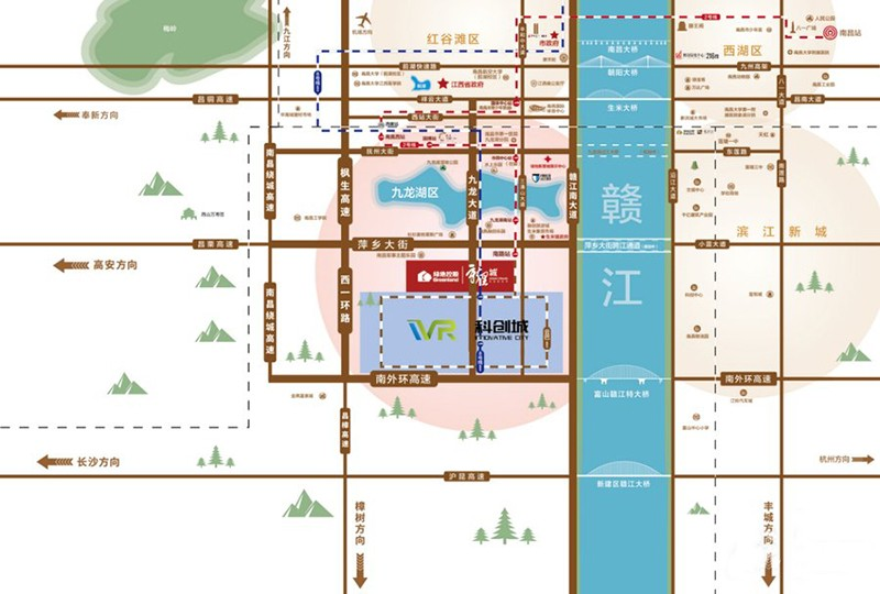 綠地新里城(VR科創城)位置圖