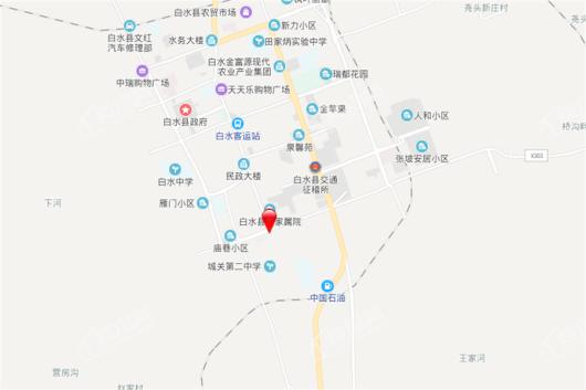 白水凯旋华府交通图