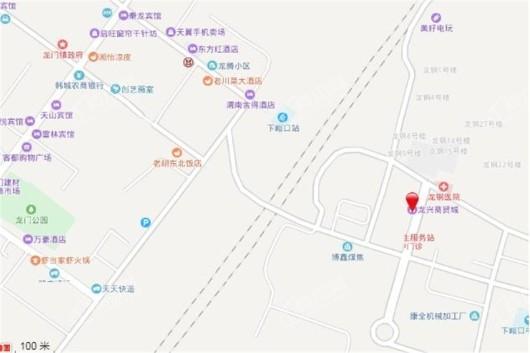 龙兴商贸城交通图
