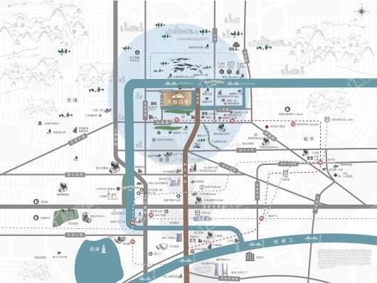 天樾四季城交通图