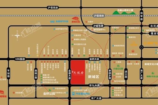 力高·天悦府交通图