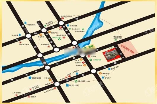 御河·城市公园交通图