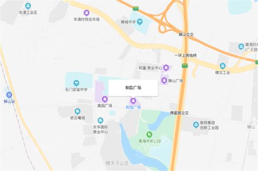 和信广场交通图