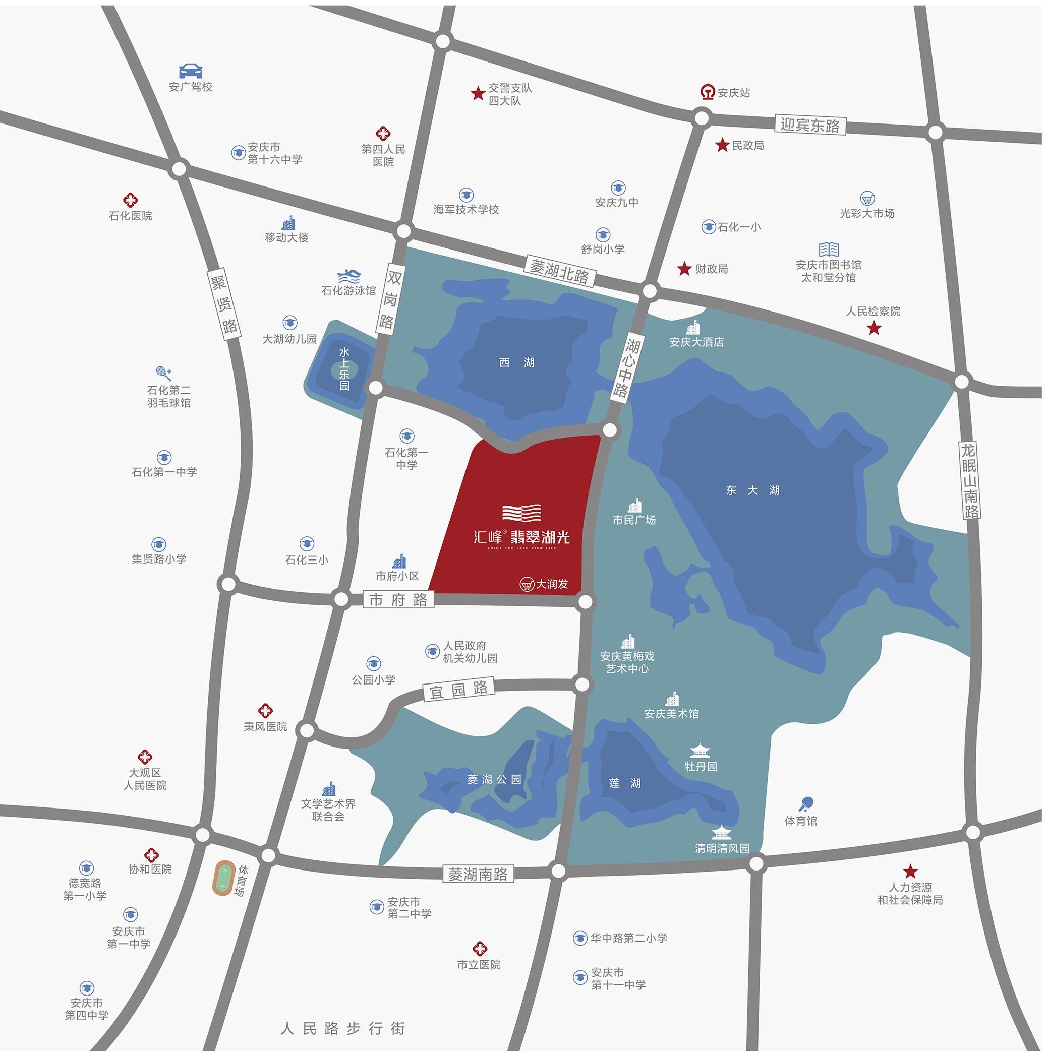 汇峰·翡翠湖光位置图
