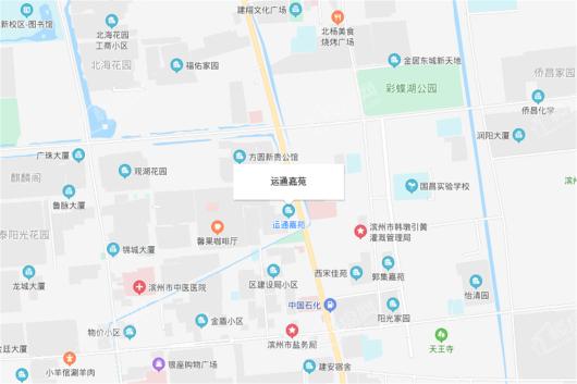 运通嘉苑交通图