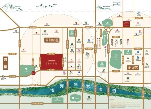 偃师建业·中州上院交通图
