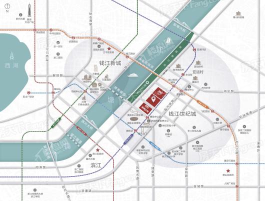 杭州国际办公中心潮悦交通图