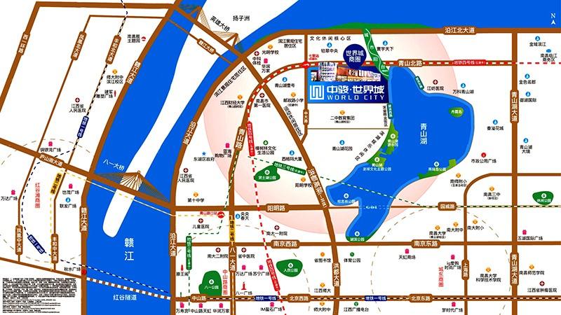中駿世界城位置圖