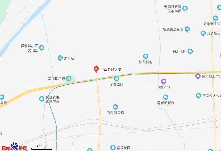 中建蔚蓝之城位置图