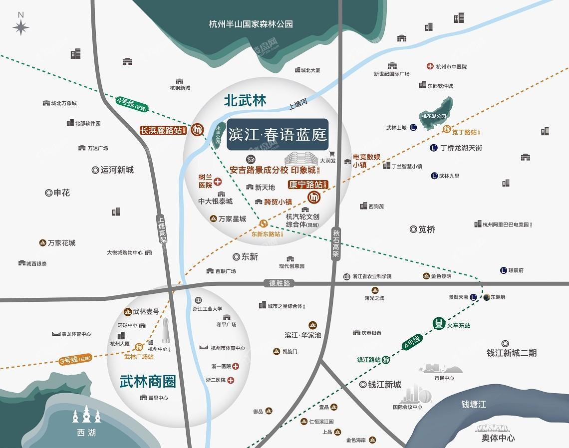 滨江春语蓝庭位置图
