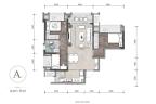龙湖嘉天下揽城阔景高层A户型 3室2厅1卫 建面约86平米
