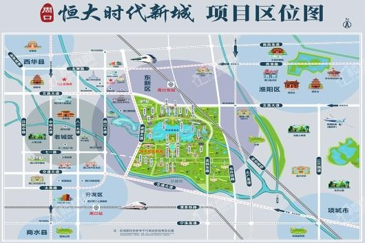 恒大时代新城位置图