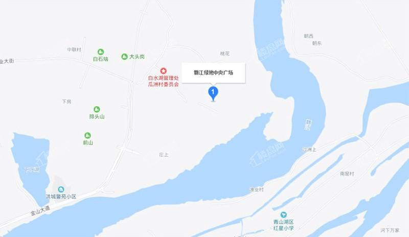 赣江绿地中央广场位置图