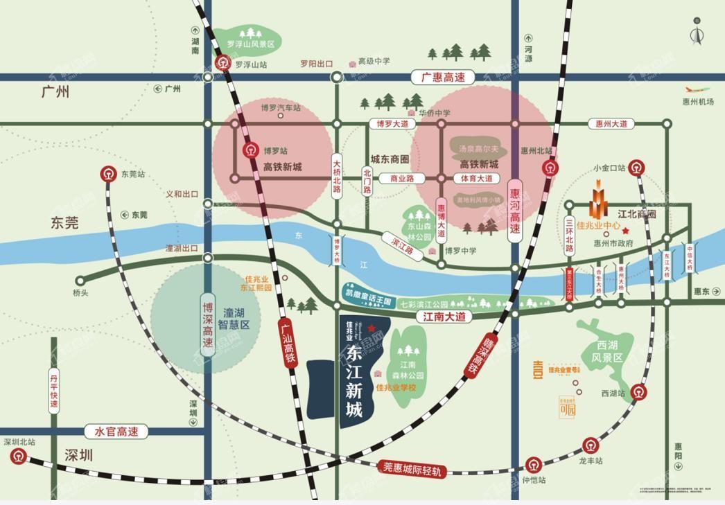 佳兆业东江新城位置图