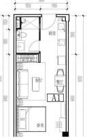 公寓, 建筑面积约50.00平米