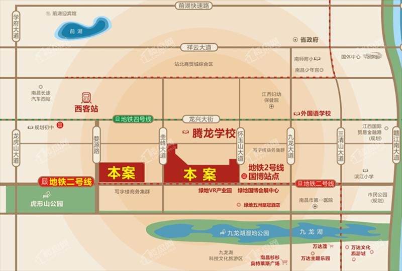 恒锦玖珑时代广场位置图