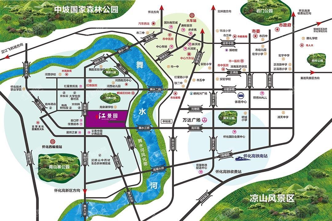 江景园位置图