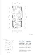 三室两厅两卫117㎡户型