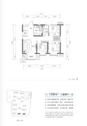 三室两厅一卫100㎡户型