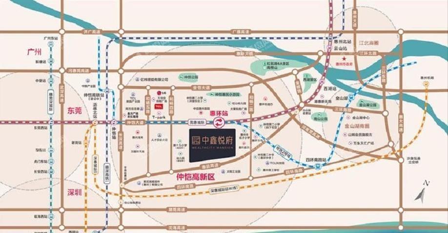 中鑫悅府位置圖