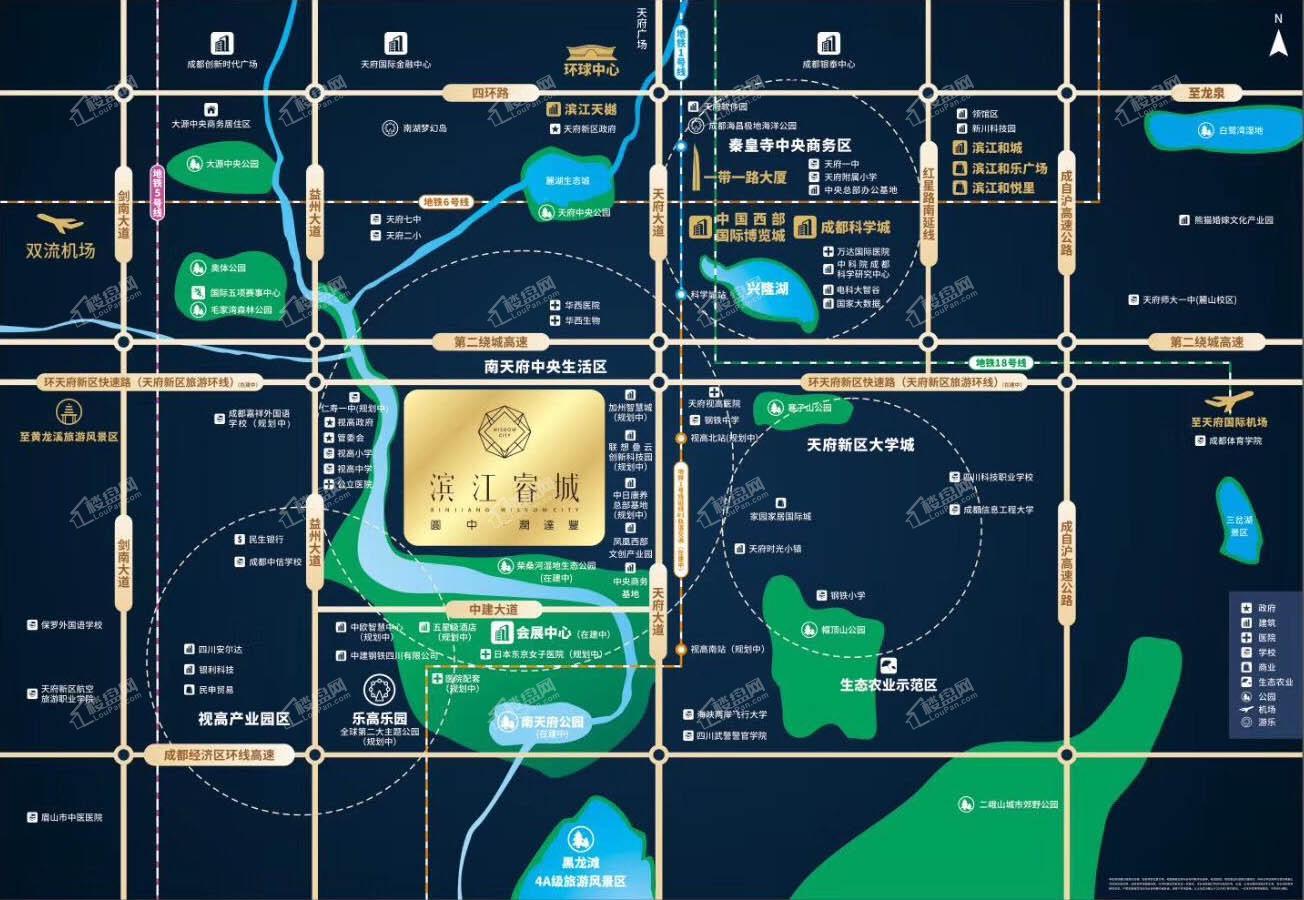 滨江睿城位置图